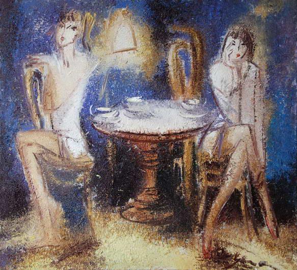 In a Café, Alexander Susha
