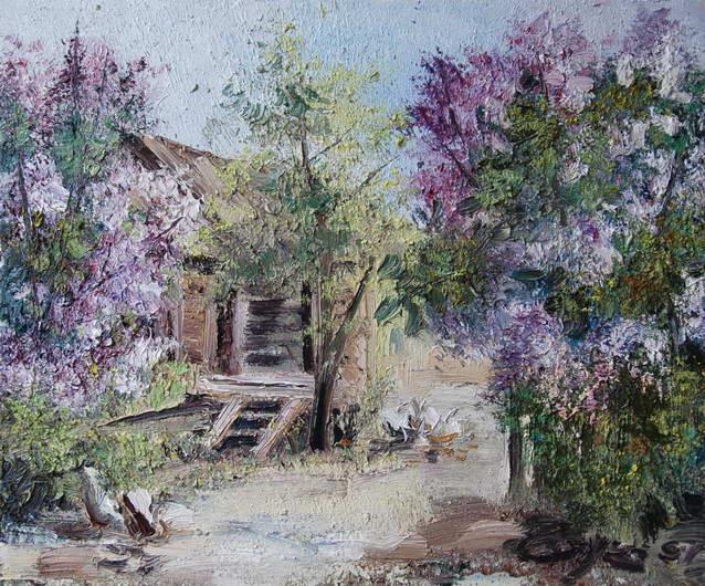 Lilac in the Garden, Alexander Susha