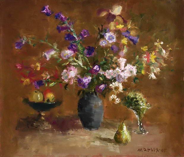 'Still Life with Bluebells', Maria Isaenok