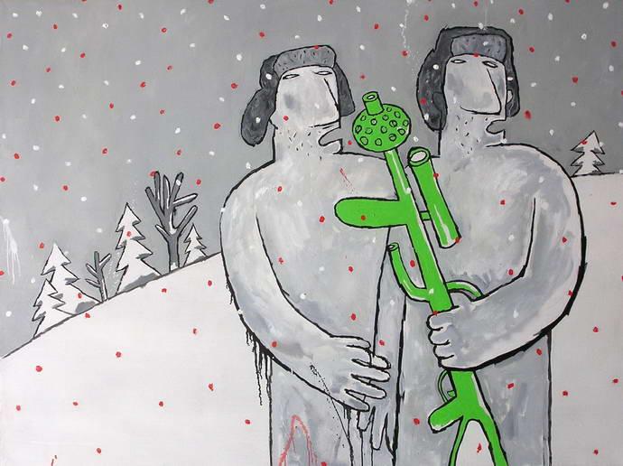 Hunters in Snow, Mikhail Gulin