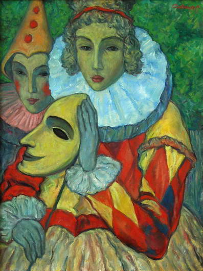 'Lady and a Clown', Victor Savchenko
