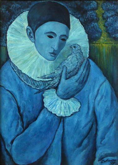 'Pierrot with a Dove', Victor Savchenko