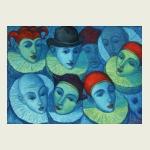 Victor Savchenko, 'Comedians'. $349