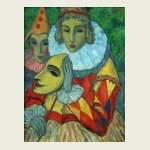 Victor Savchenko, 'Lady and a Clown'. $1,400