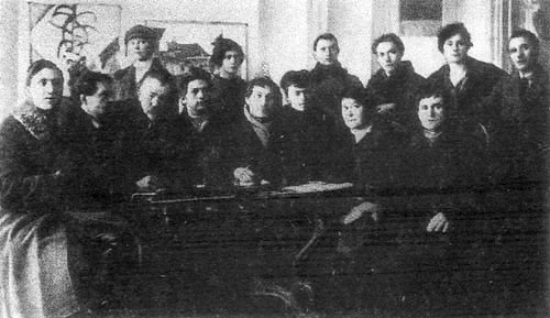 Students and lecturers of the Vitebsk Fine Arts School