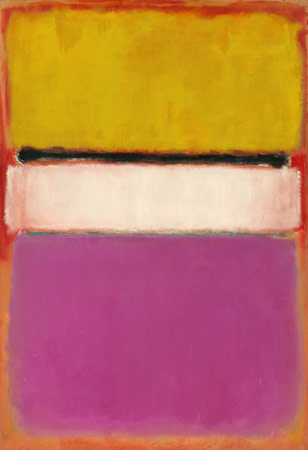 Mark Rothko, White Center (Yellow, Pink and Lavender on Rose), 1950