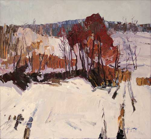 Vital Tsvirka. Lilac Day. 1982. 110cm x 120cm. Oil on canvas