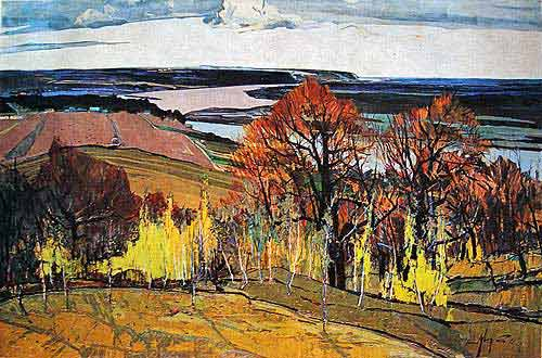Vital Tsvirka. Pripyats, spring. 1966. Oil on board