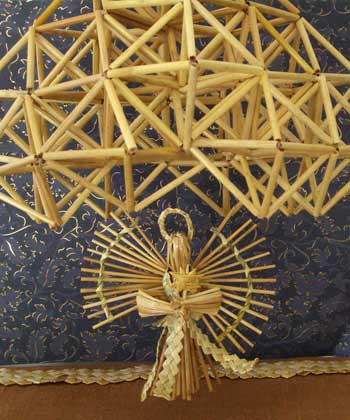 Irina Sarnatskaya. Straw weaving. The Nativity set