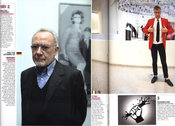 Gerhard Richter and Maurizio Cattelan featured in Mr. de Pury's selection