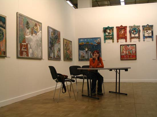 Anna Silivonchik. The International Moscow Art Salon 'the Central House of Artists - 2008'. Moscow. Russia