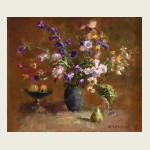 Maria Isaenok, 'Still Life with Bluebells'