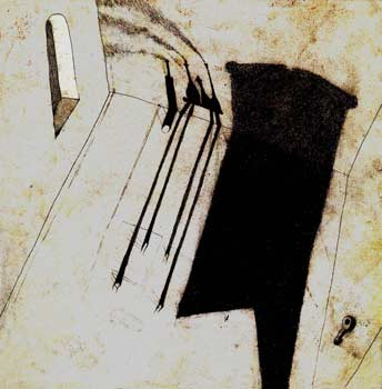 Ivan Semiletov. Shadows. Mixed media, digital printing. 34cm x 34cm. 2007-2008
