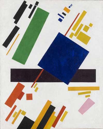 Kazimir Malevich. Suprematist composition ( 1916. Oil on canvas. 88cm x 70,5cm)