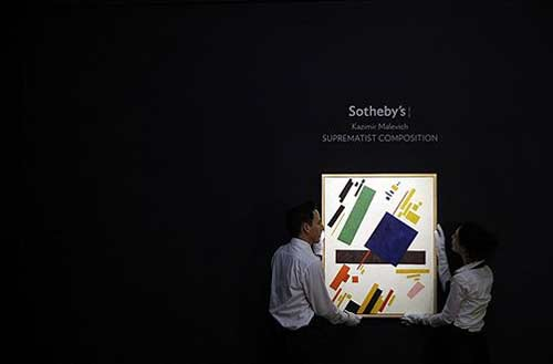 Kazimir Malevich. Suprematist composition sold for $60 million at Sotheby's