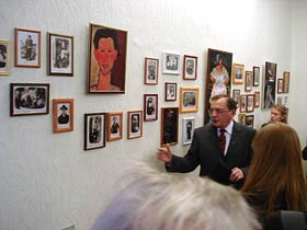 The opening day of the exhibition