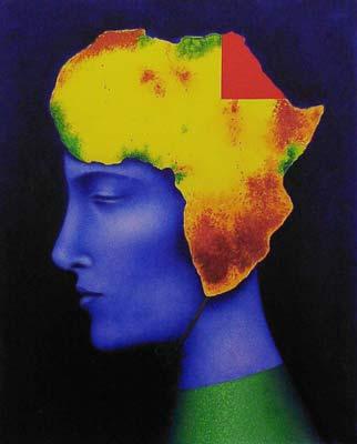 Ruslan Vashkevich. The Flight into Egypt. Oil on canvas. 100cm x 80cm. 2003